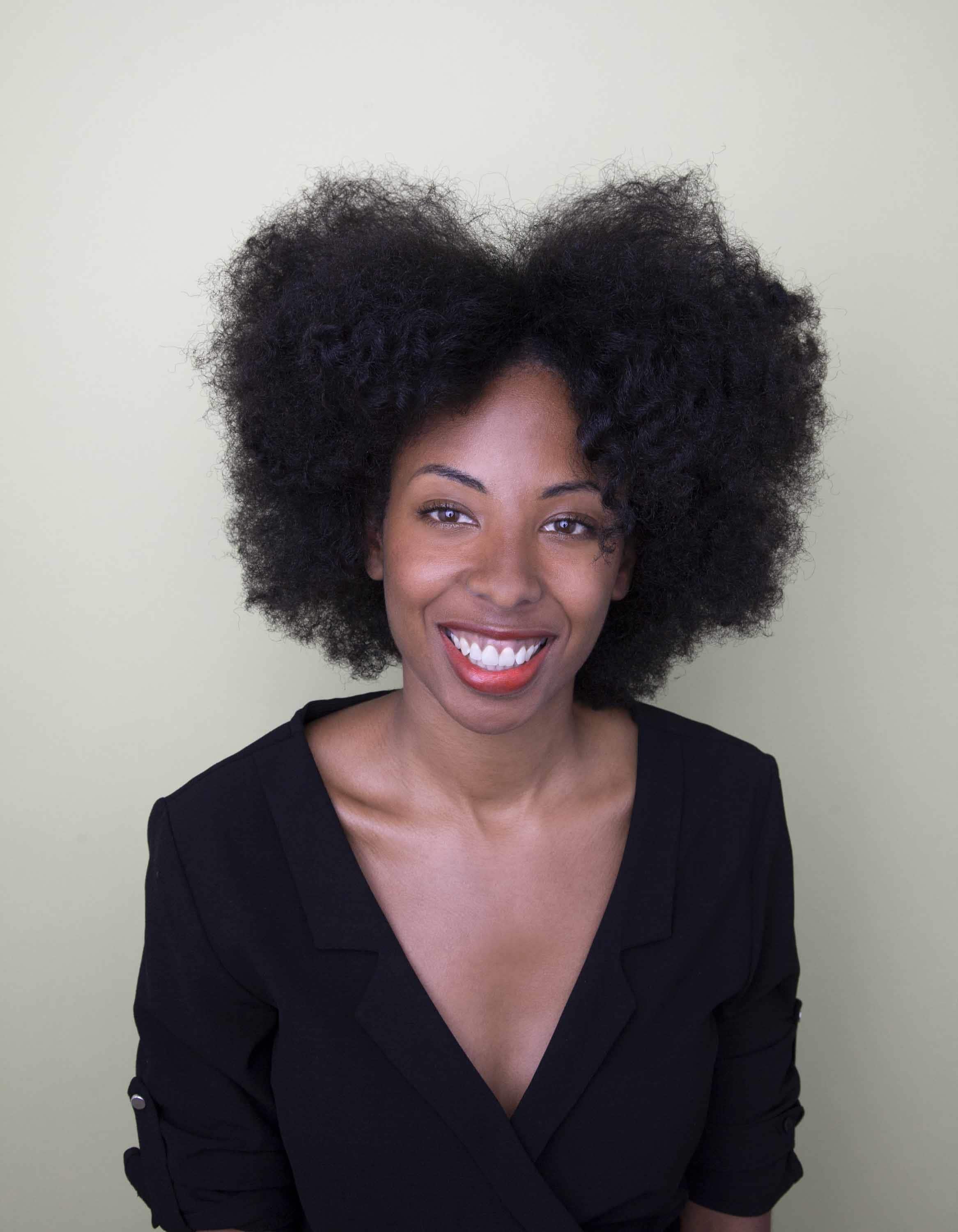 afro hairstyles with a cool center part