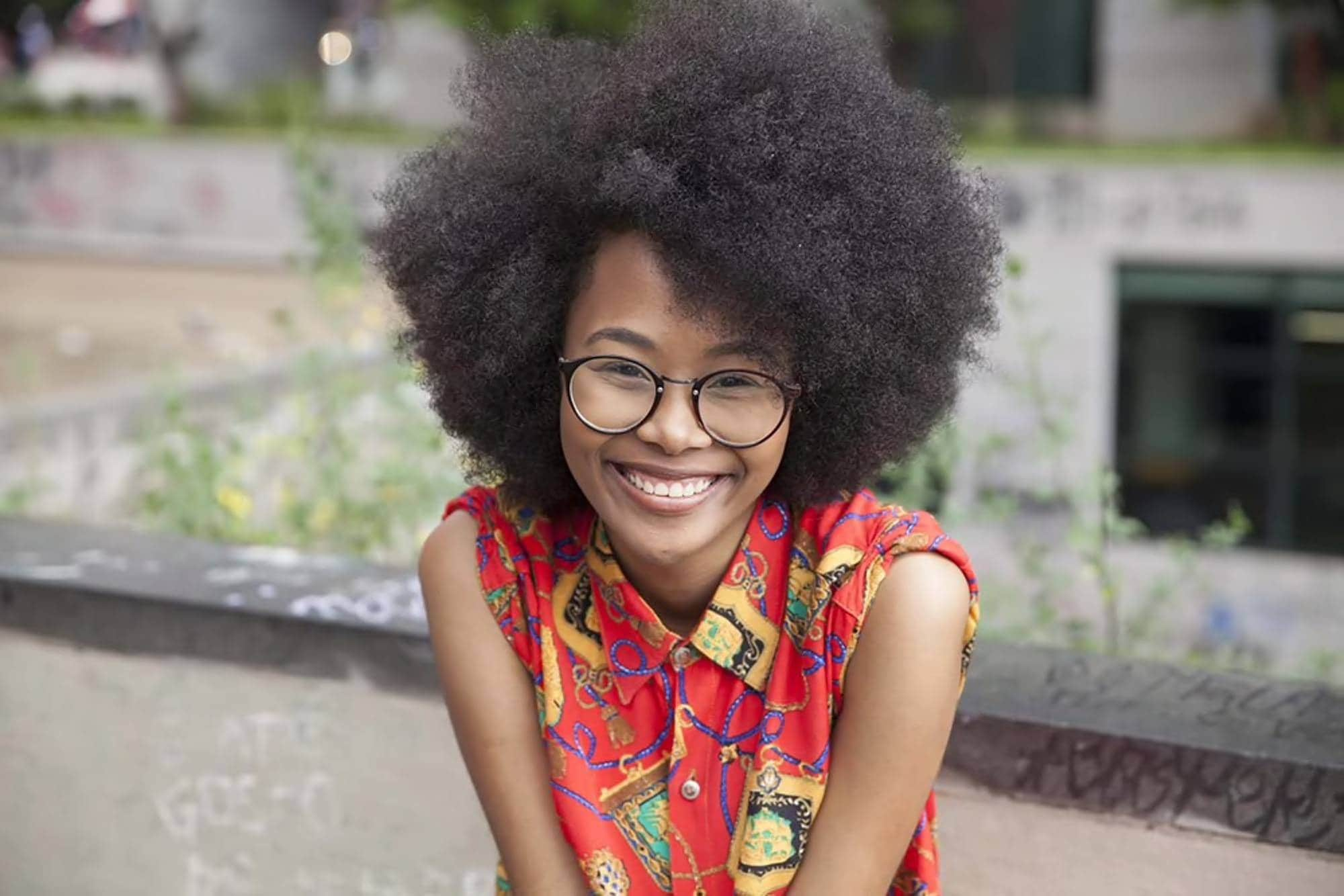 afro hairstyles on short hair