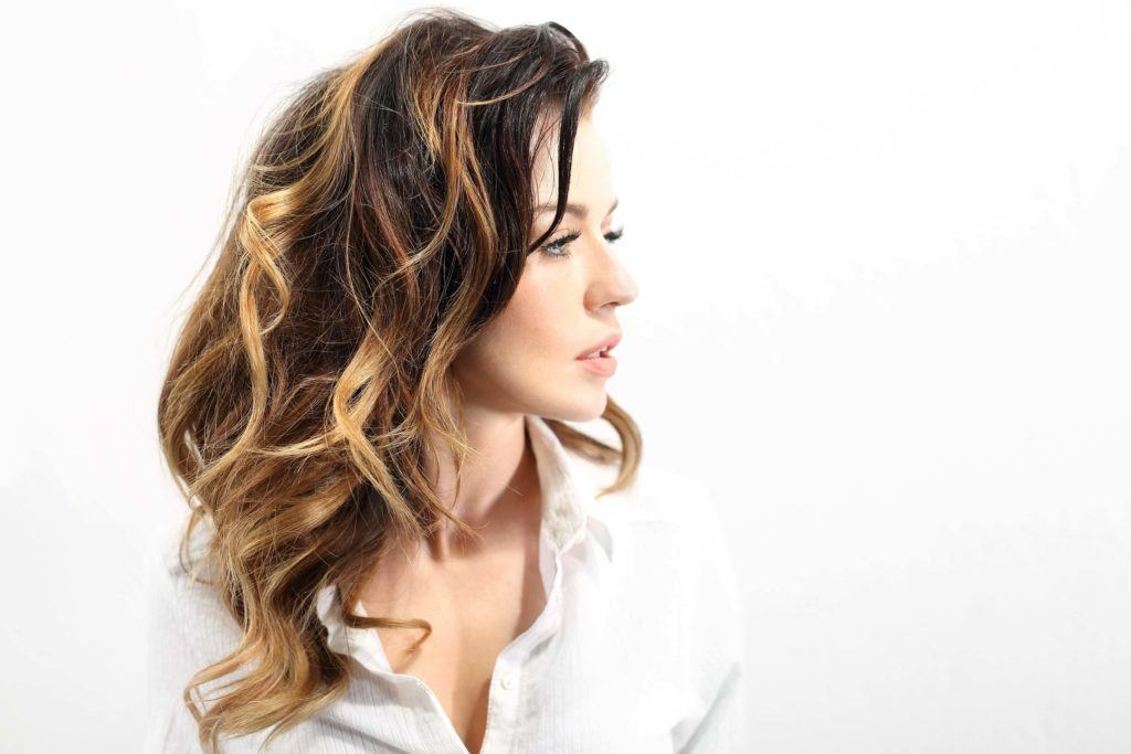 bronze balayage curly hair