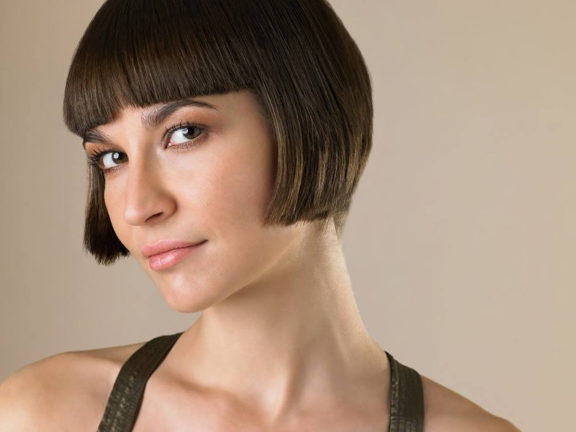 blunt haircut with an edgy look