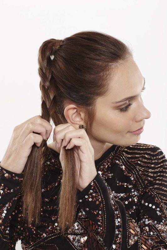 braided ballet bun: braid hair