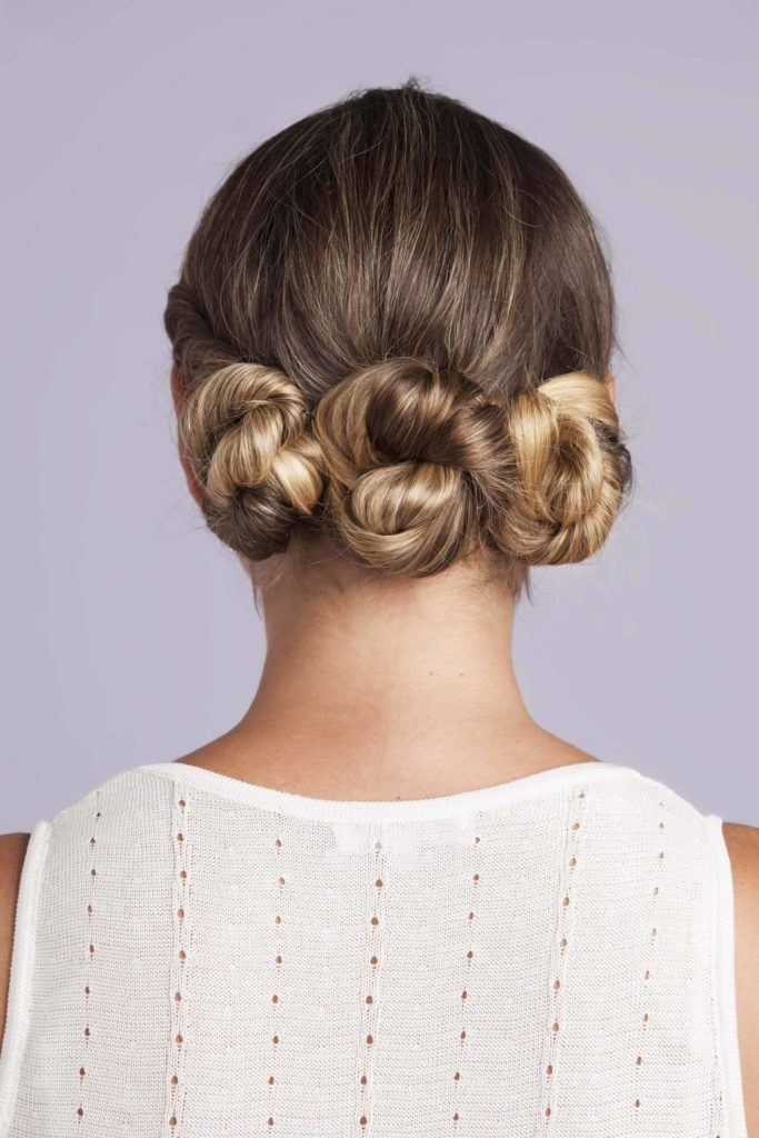 triple buns for bridal hairstyles