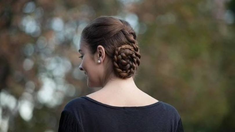 coiled bridesmaid hairstyles