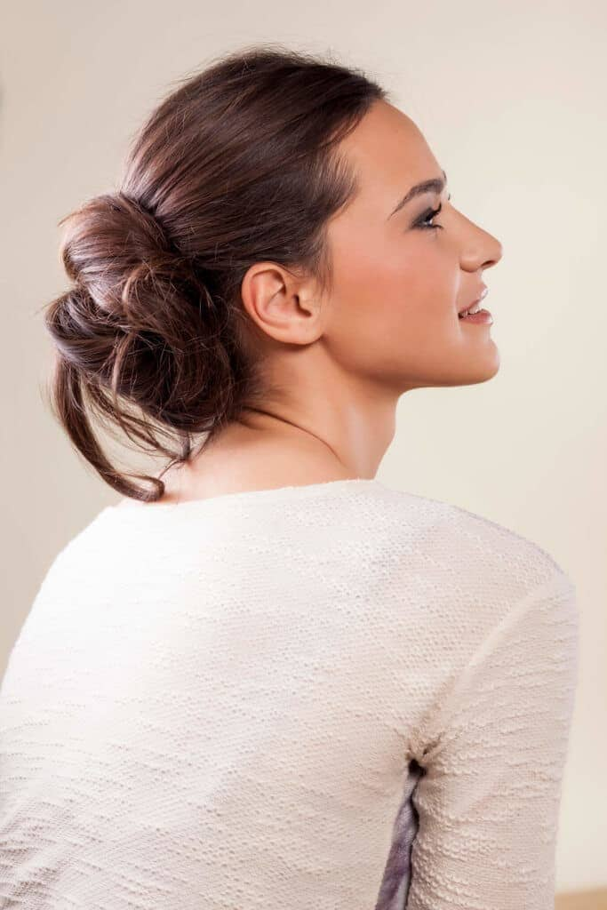 bridesmaid hairstyles with messy bun
