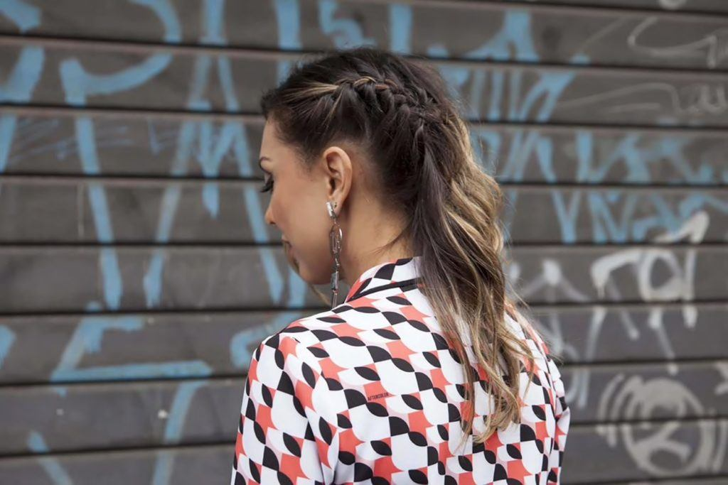 haircuts for round faces braid