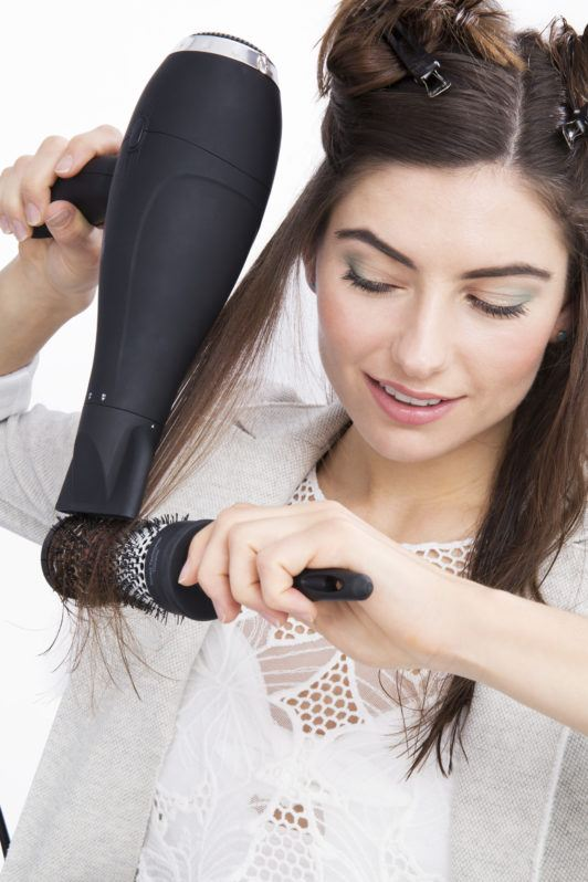 how to straighten hair with a blowdryer