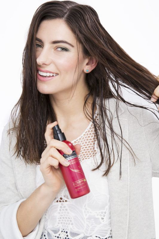 how to straighten hair use heat protectant