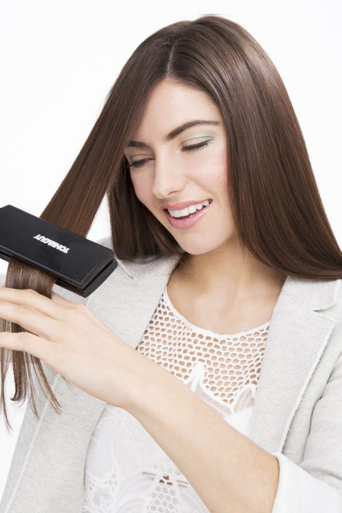 how to straighten hair with a flat iron on hairline