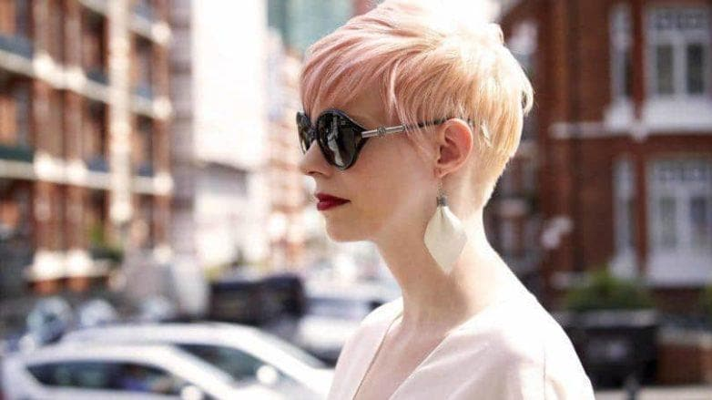 pink champagne hair pixie