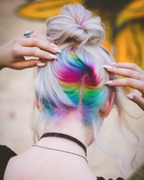 rainbow roots underneath