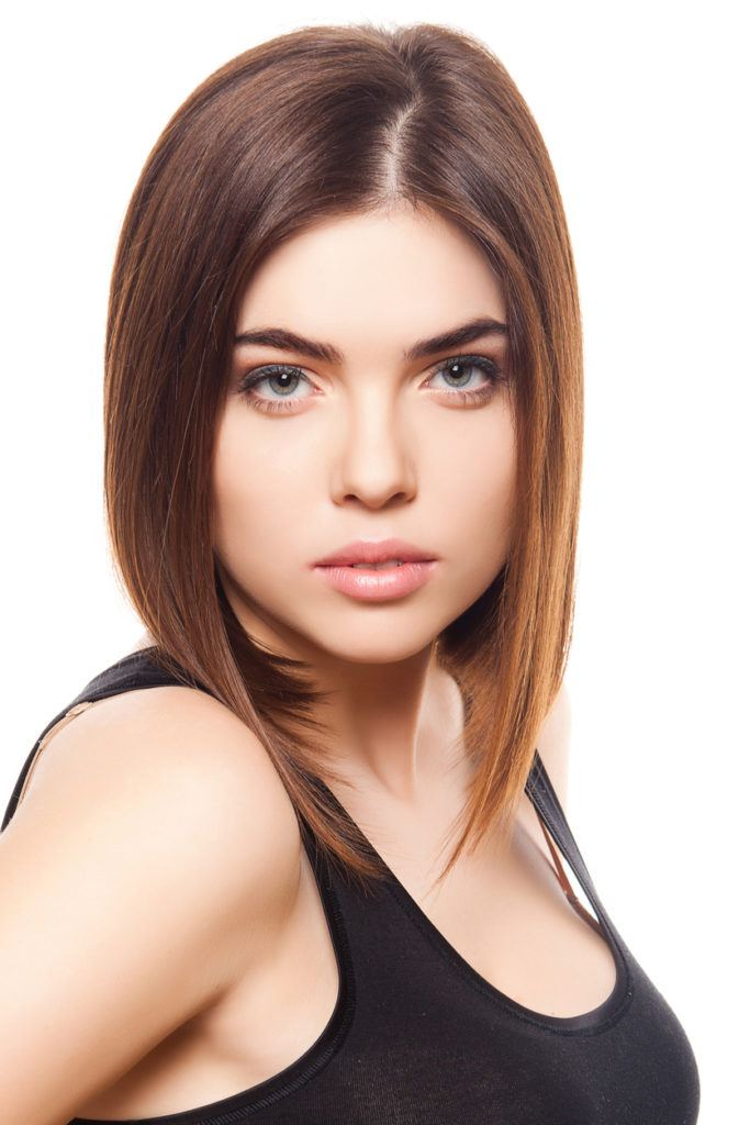 asymmetrical bob: sharp cut