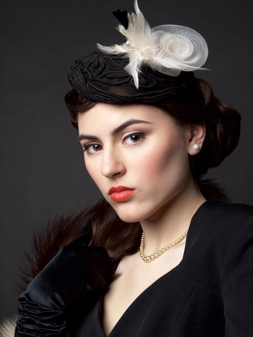 beret style flapper hairstyles