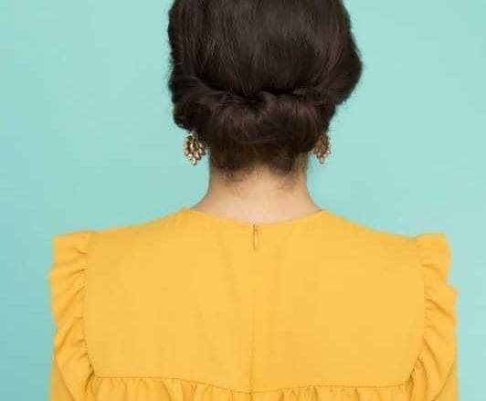 how to create the gibson girl hair updo final look