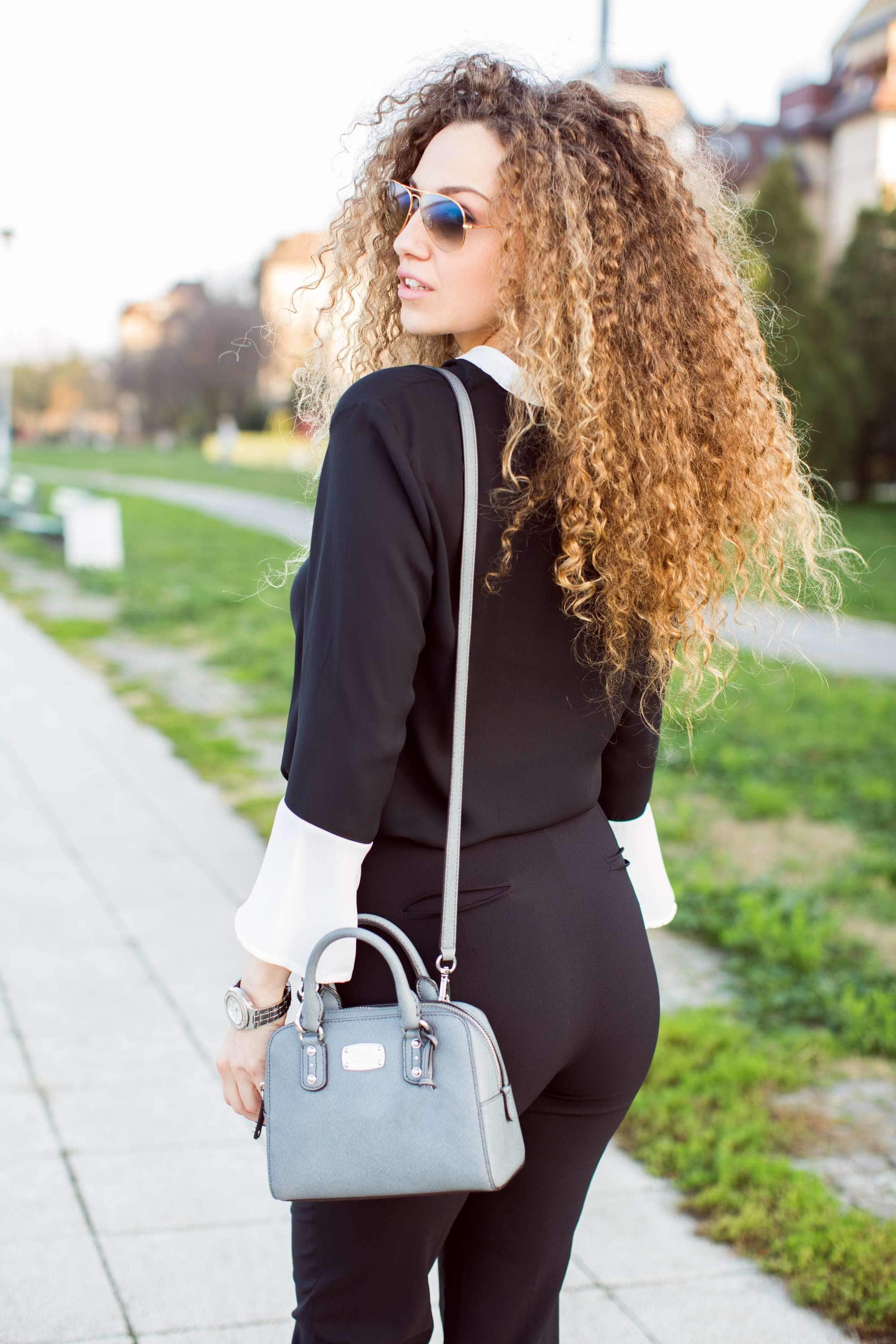 big triangle best haircuts for curly hair