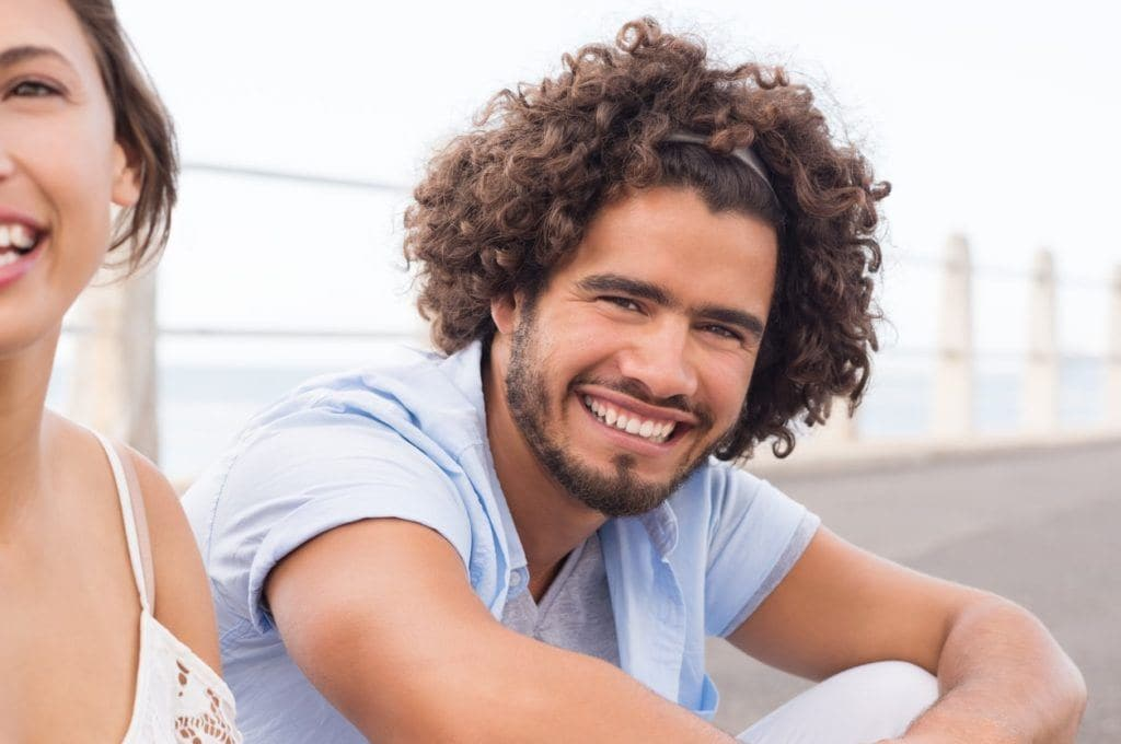 hairstyles for men with thick curl hair long curls headband