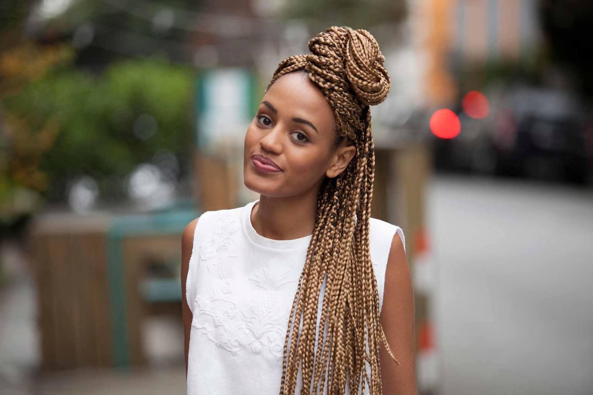 braided half-up half down hairstyles