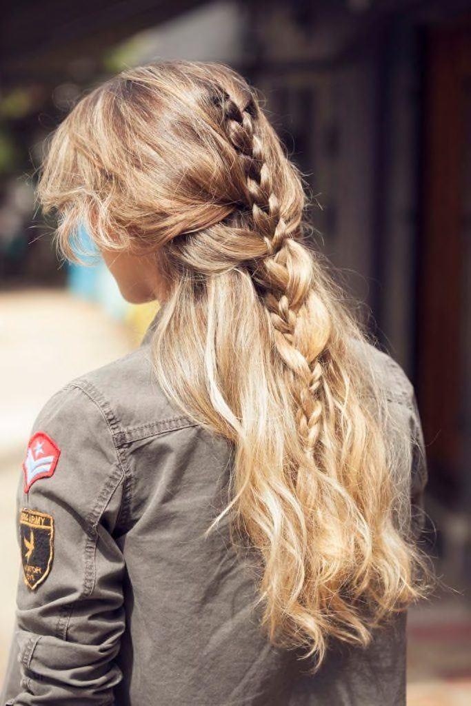 half up half down hairstyles braids