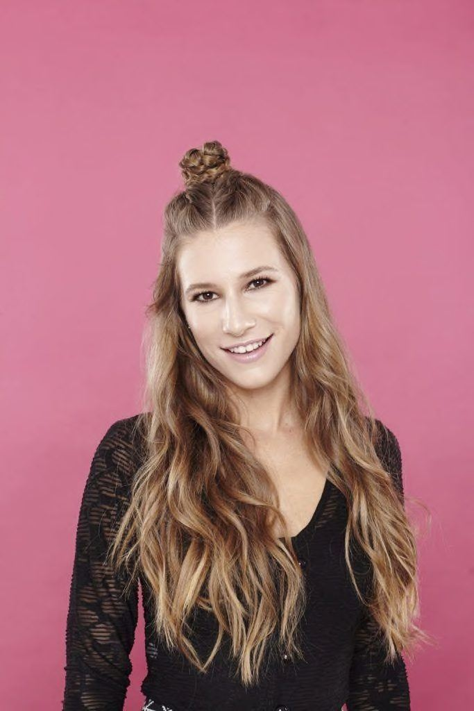 half up half down hairstyles top knot