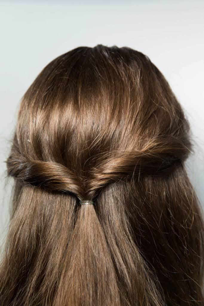 simple half up half down hairstyles