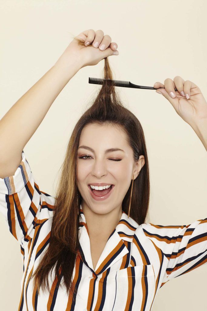 how to backcomb hair properly