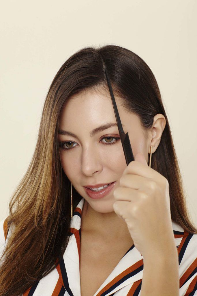 how to backcomb hair that's parted