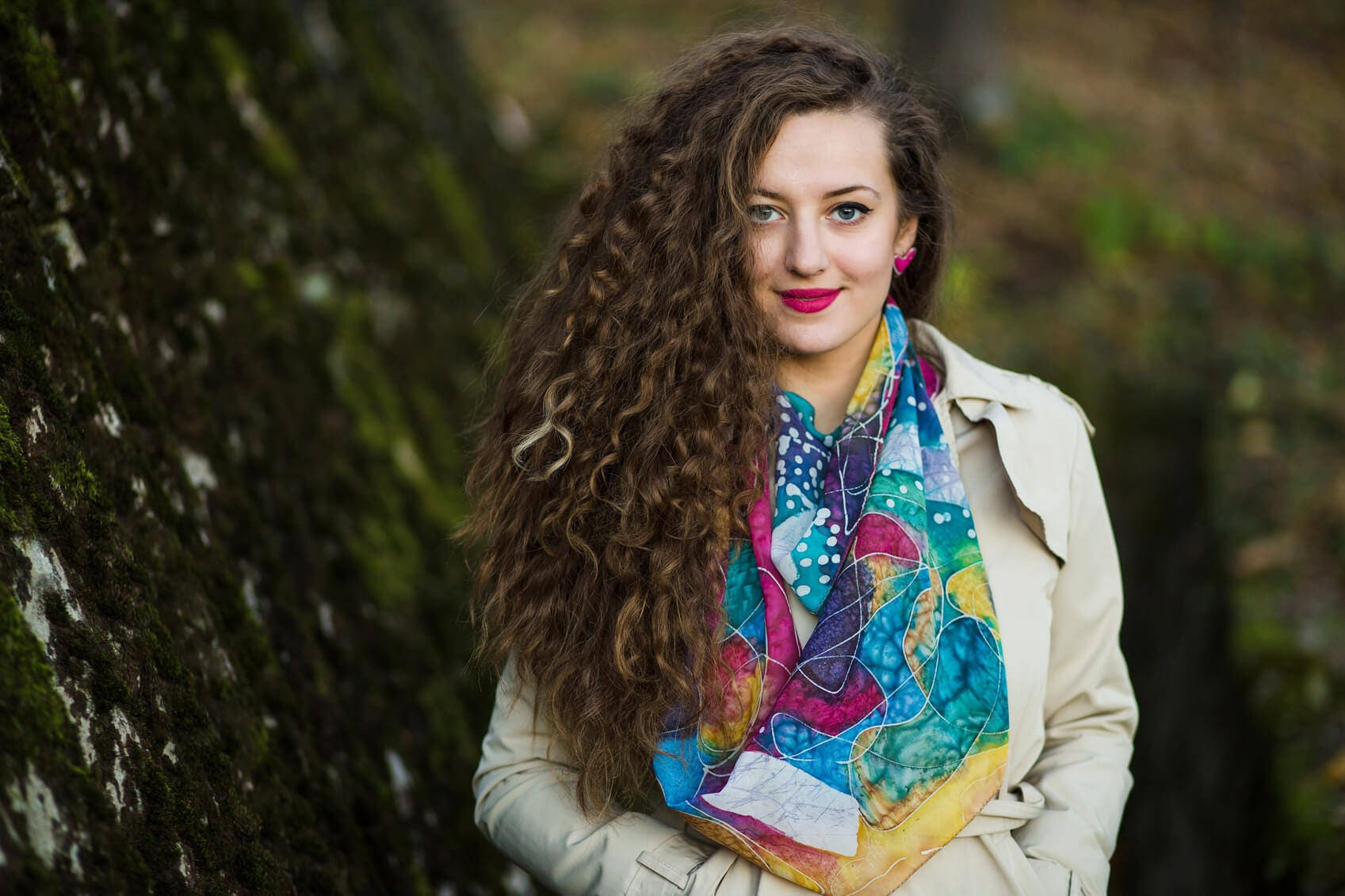 bust length best haircuts for curly hair