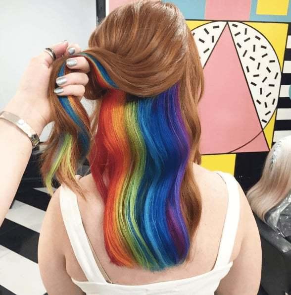 pride hair peekaboo roots