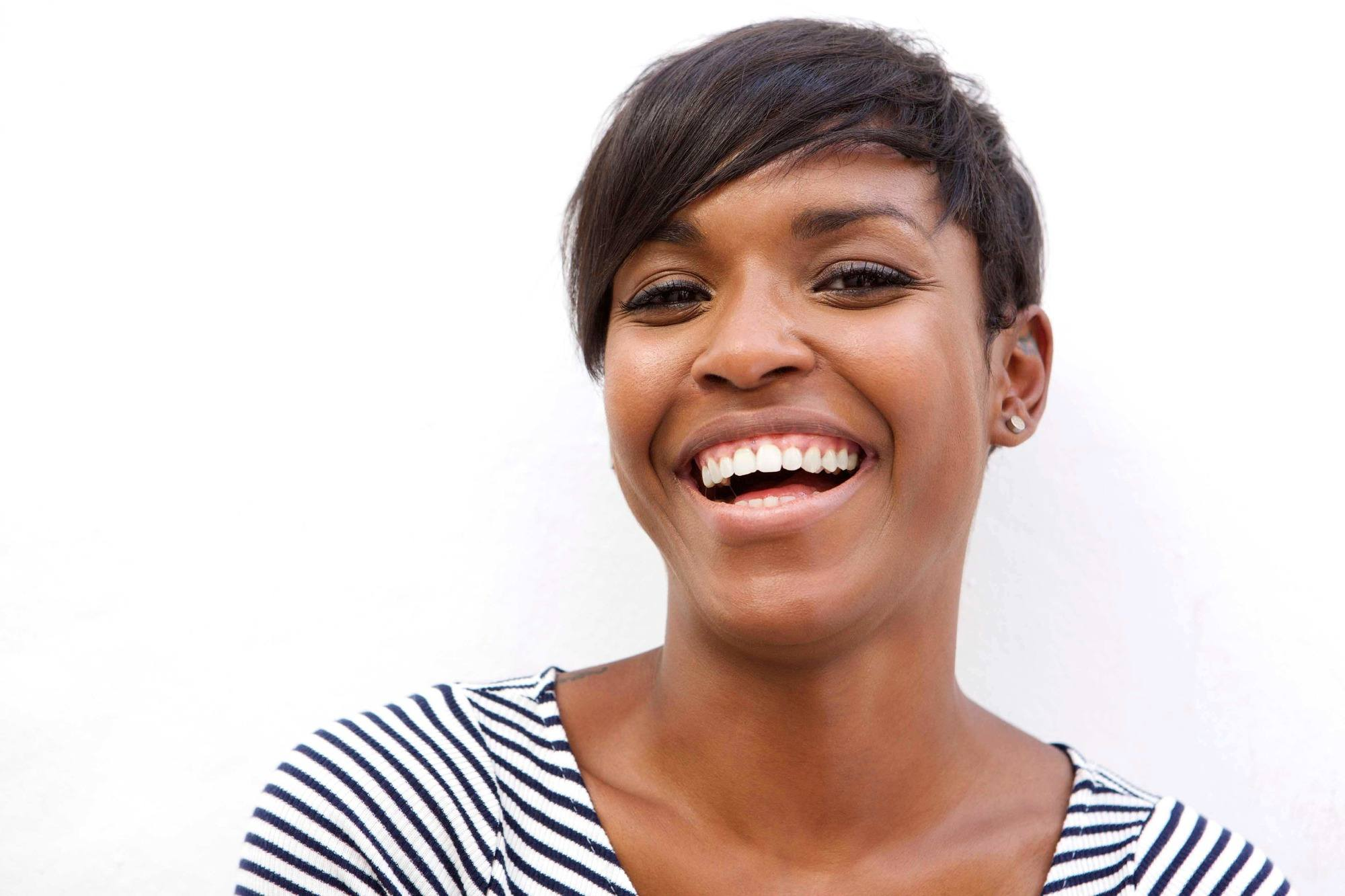 relaxed hair health: short pixie