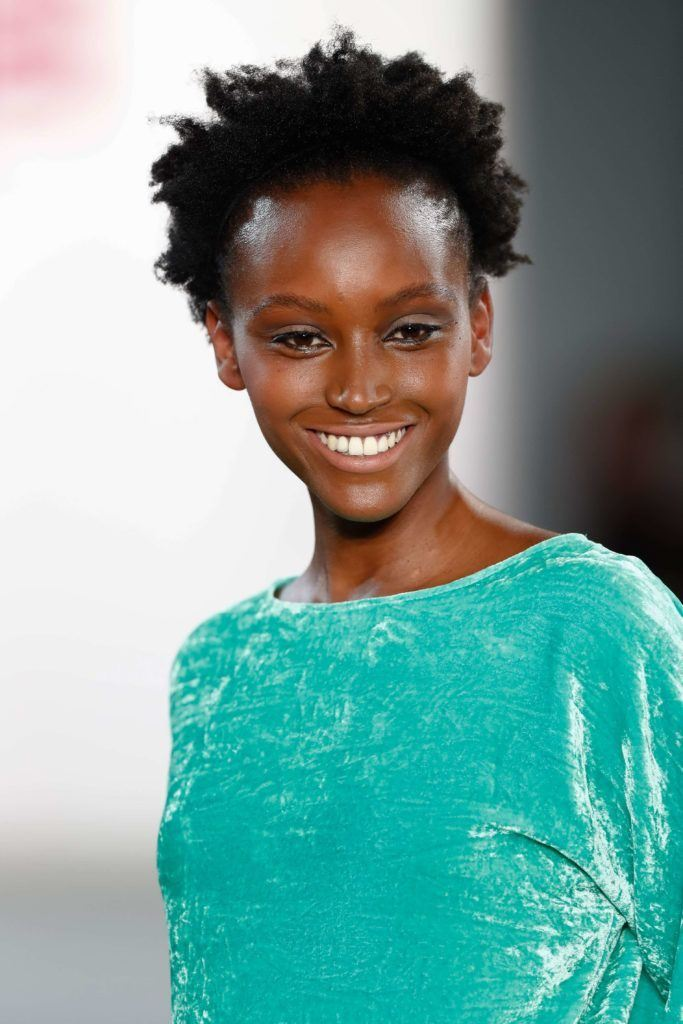 short haircuts for curly hair: textured afro