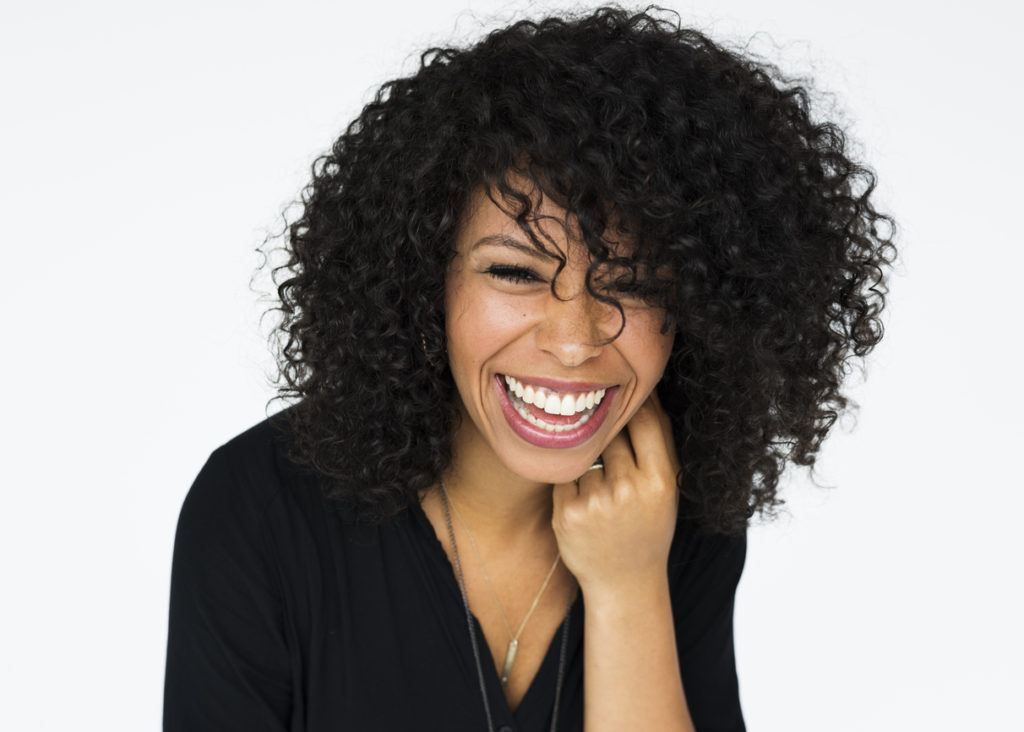short haircuts for curly hair: shoulder length curls