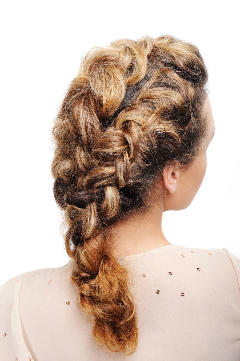 hairdos for curly hair French braid