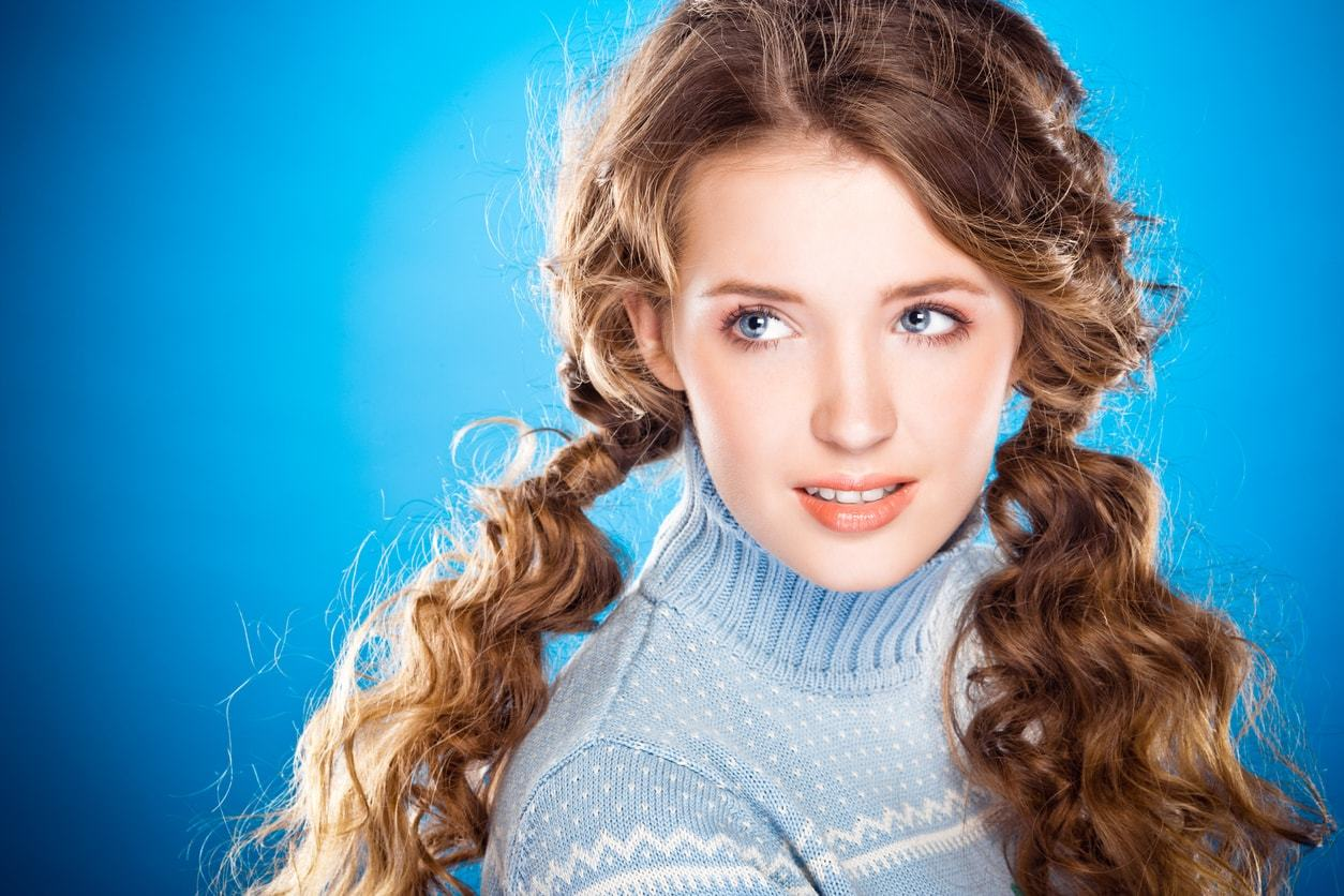 hairdos for curly hair pigtails
