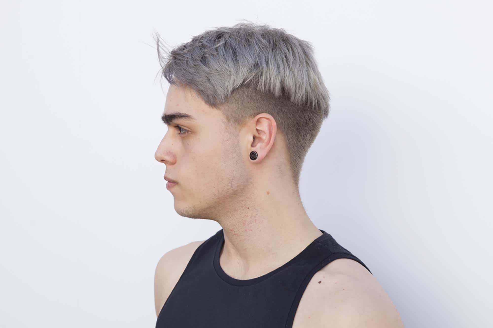 choppy gray long undercut