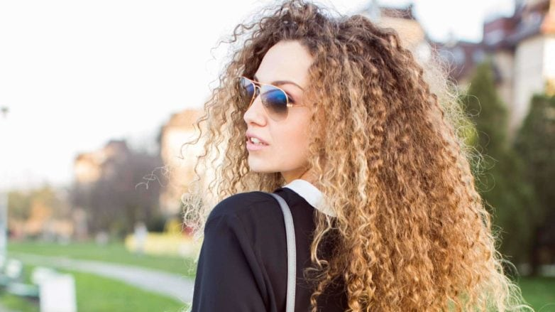 best cream for curly hair: long curls