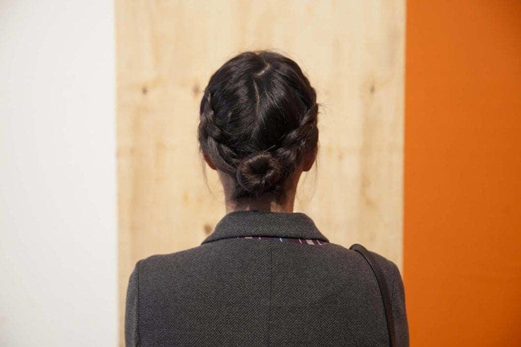 buns for short hair: braided bun