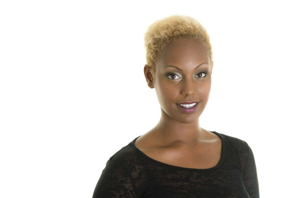 bleached yellow blonde hair color for dark skin