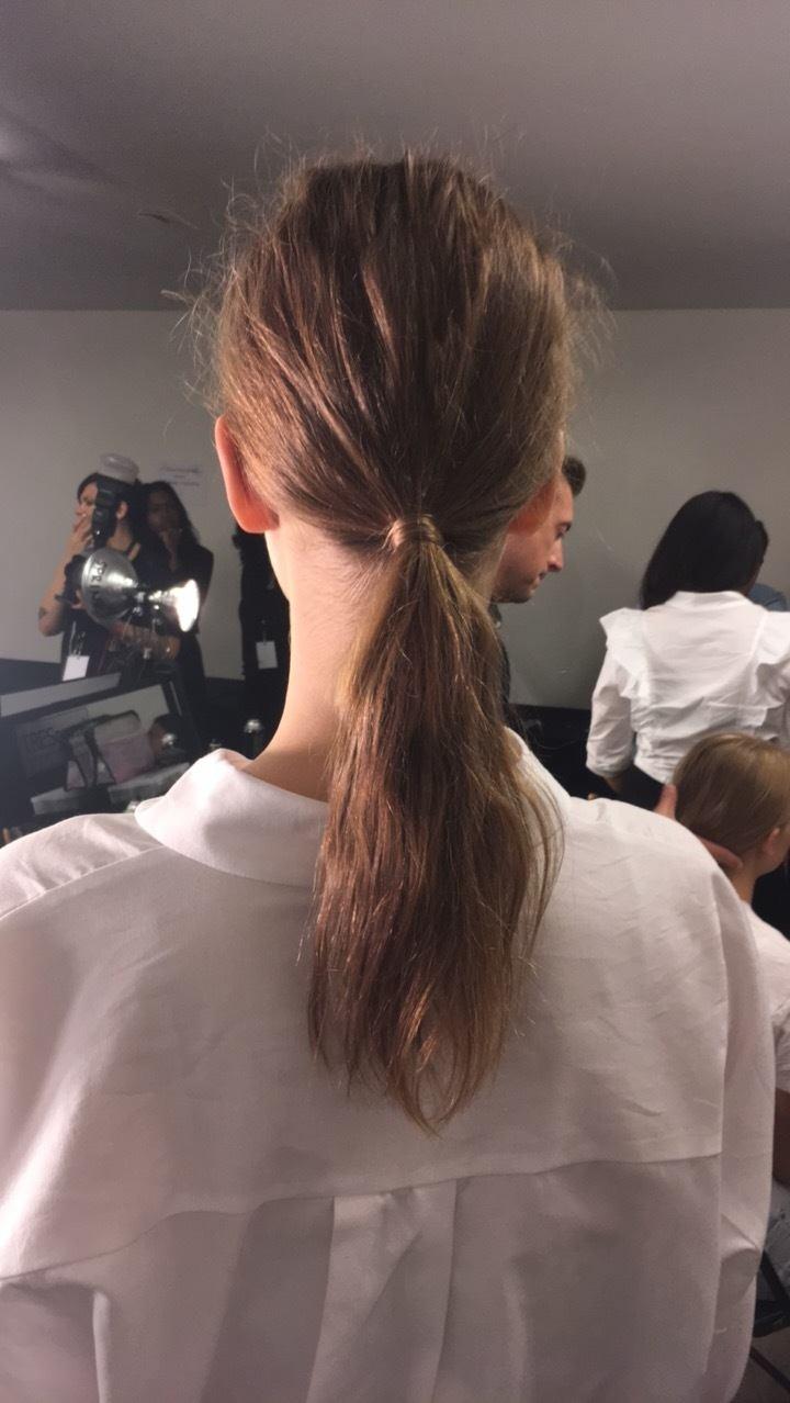 textured ponytail tanya Taylor brunette