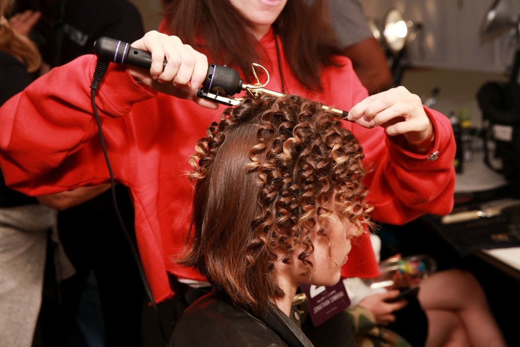 wild texture at Jonathan Simkhai SS18 tight curls