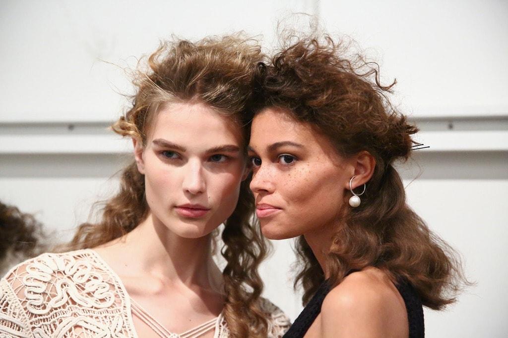 wild texture Jonathan Simkhai SS18 freeflowing curls