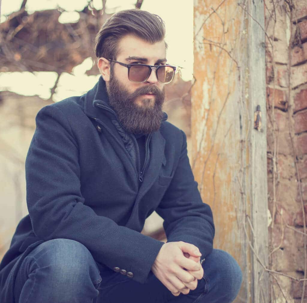 comb over hairstyles with a beard