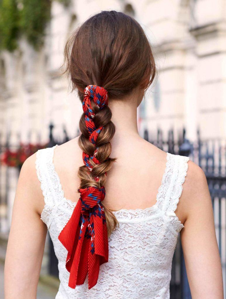 easy hairstyles for long hair scarf