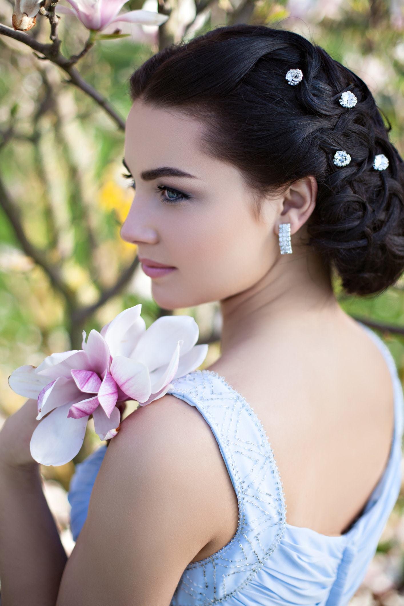 flower girl hairstyles tighter updo gems