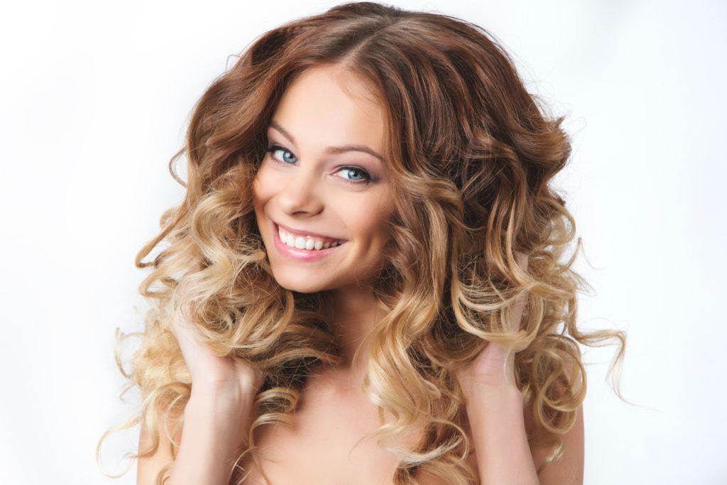 loose perm volumized ombre