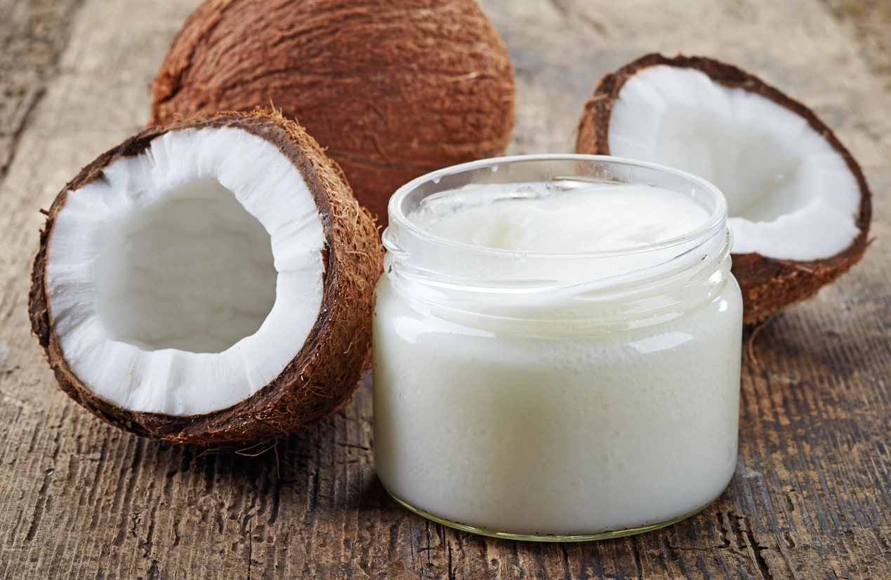 natural heat protectant: coconut oil