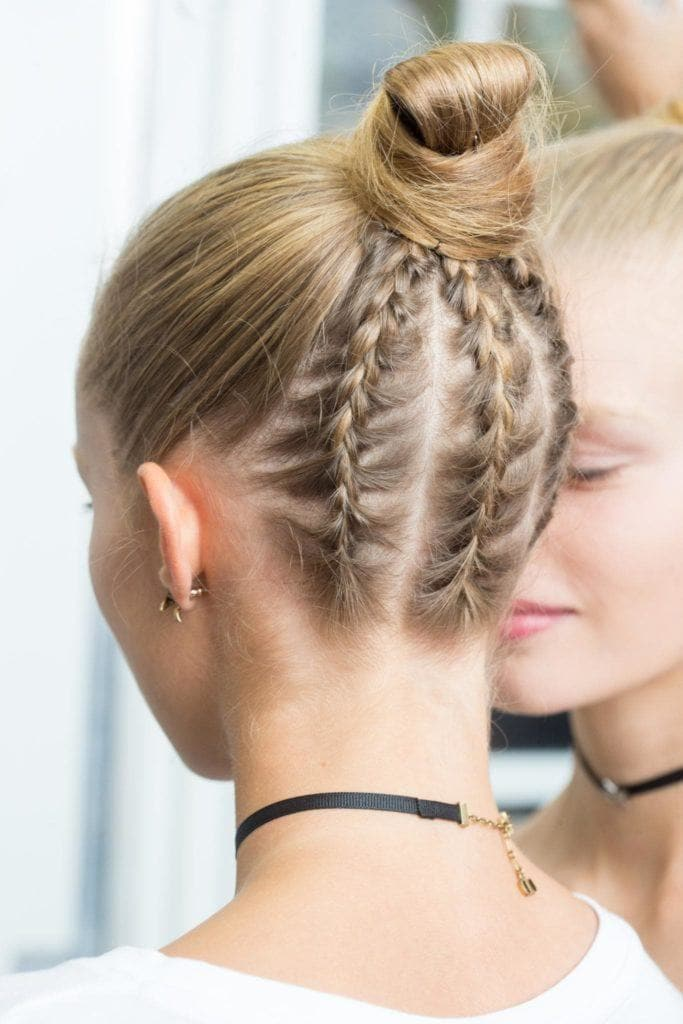 upside down party braids