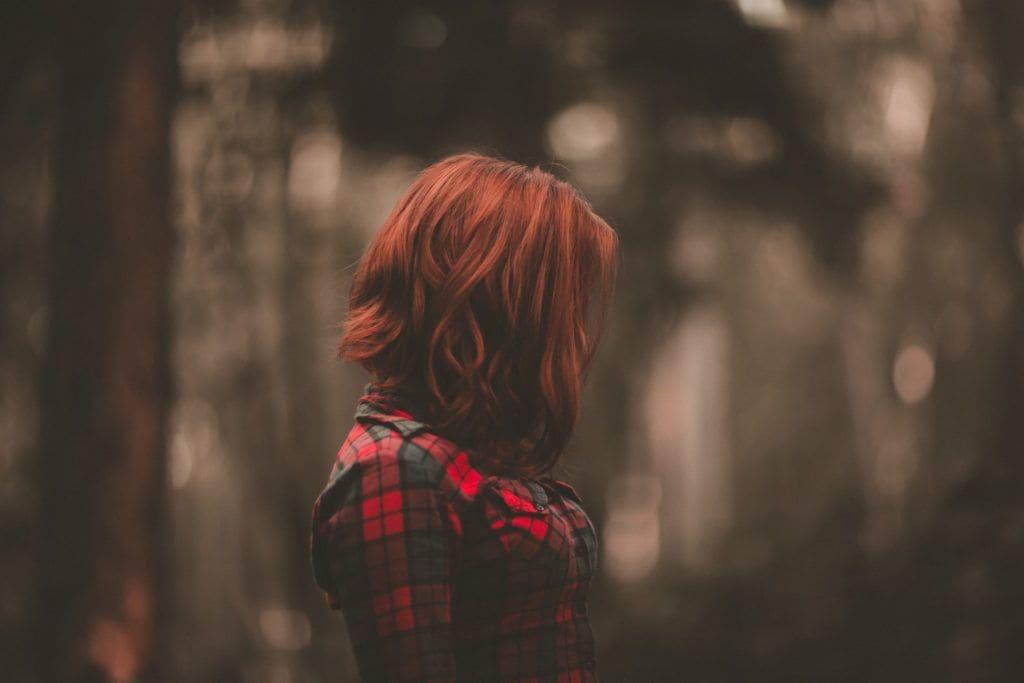 red balayage hair natural waves