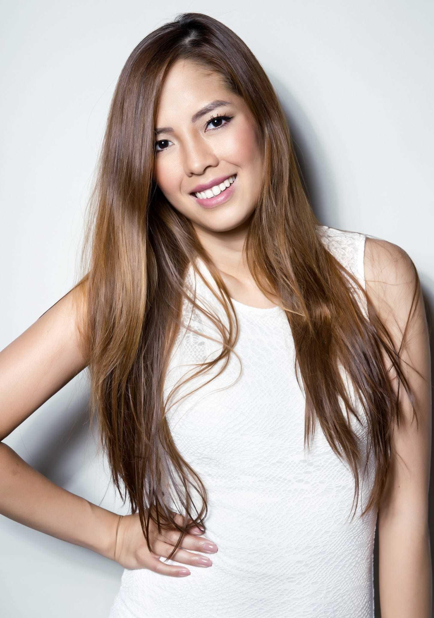 anti frizz long asian hair