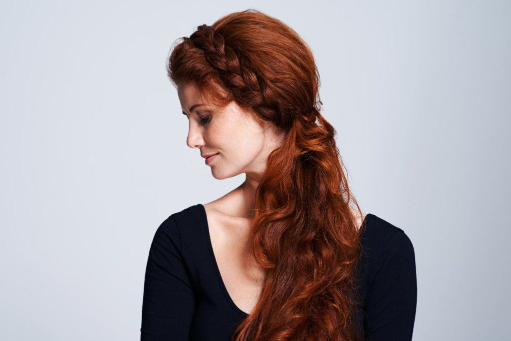 easy styles for curly hair halo braid