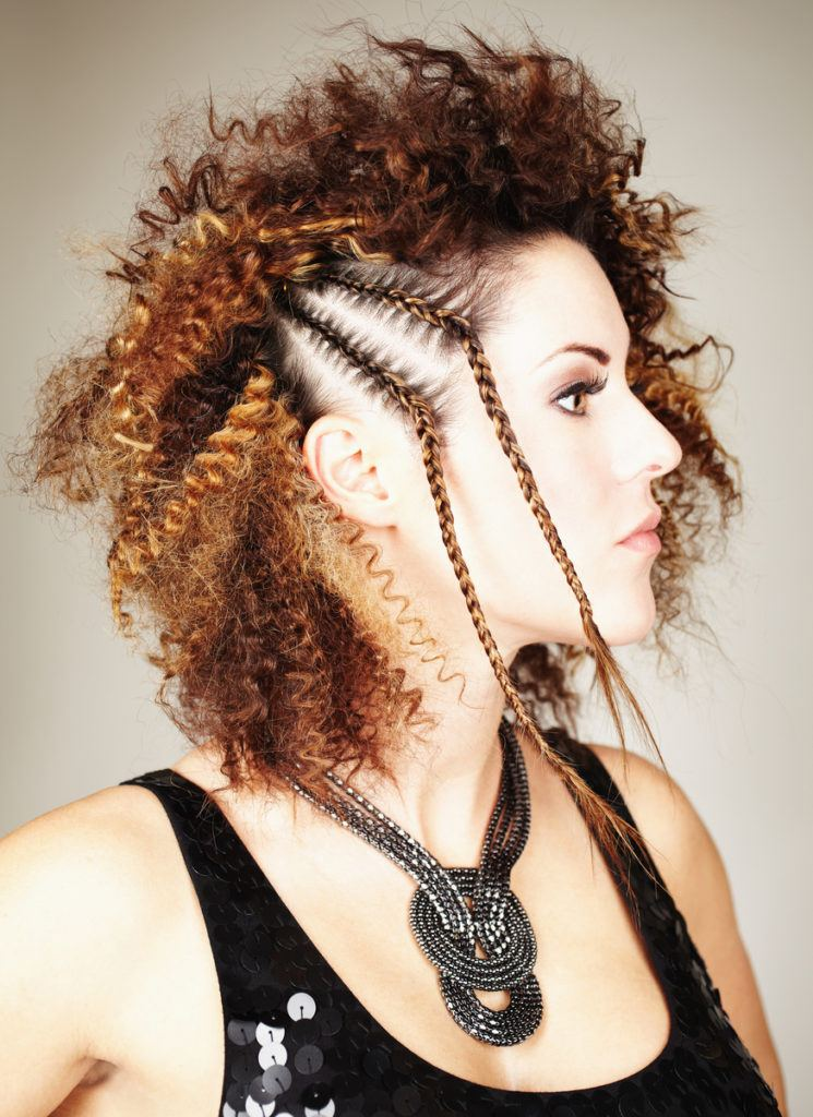 easy styles for curly hair side braids