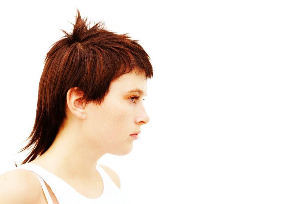 funny haircuts: cowlick mullet